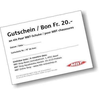 MBT Gutschein Fr. 20.-