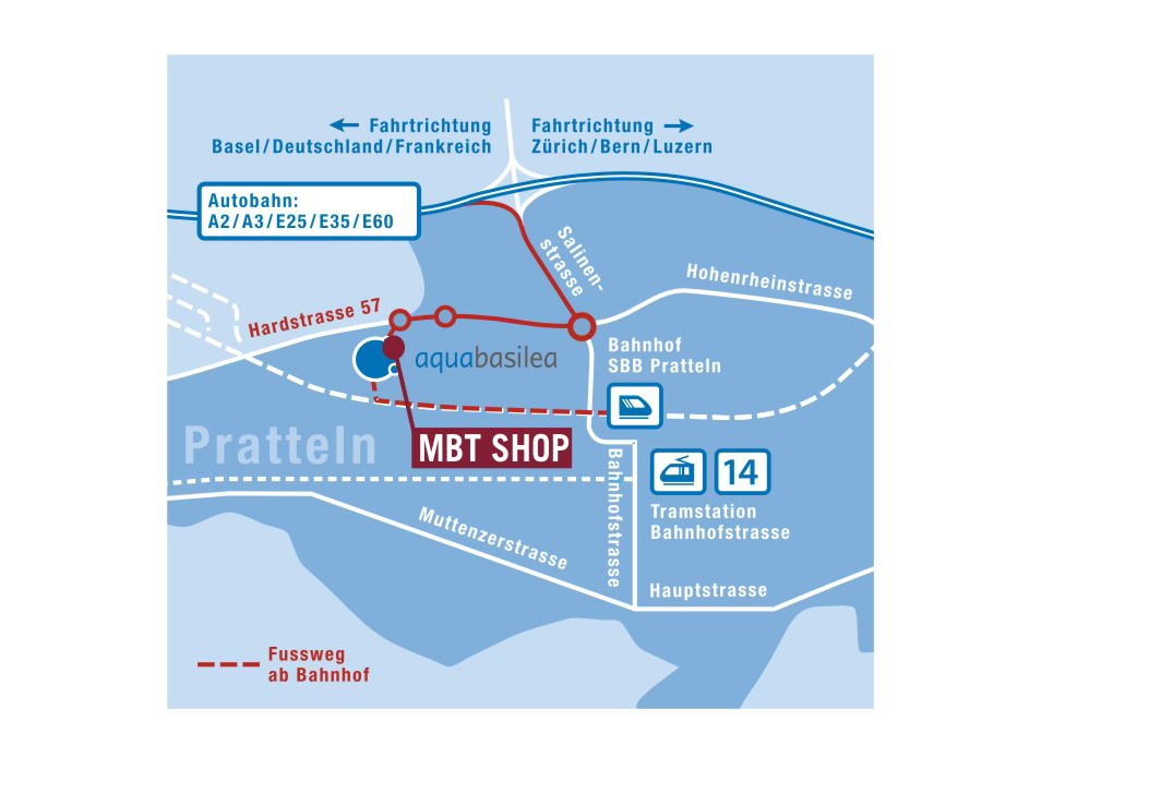 Plan von MBT Shop Aquabasilea